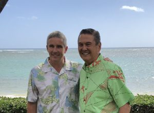 Jay Monahan, PGA TOUR Commissioner (left) with George D. Szigeti, President and CEO of the Hawaii Tourism Authority (right)